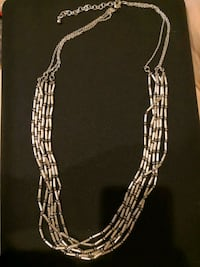 Silver plated necklace with iridescent beads Arlington, 22201