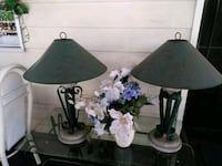 two green and white table lamps Escondido, 92027