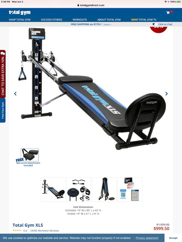 Total gym with ab crunch f075eb2c-7846-41ee-ad03-9f3689ee58ad