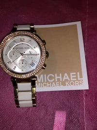 Michael Kors Parker Watch Women's MK5774  Rose-Gold&white Stainless