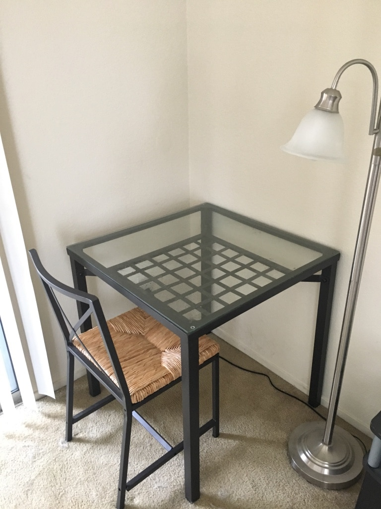 Glass Dining Table W/ Two Chairs