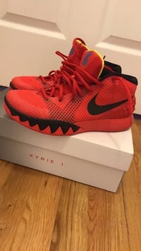 *** Kyrie 1  size 9 ***Nike basketball shoes Kylie 1's 'Deceptive Red'  (ONLY WORN ONCE) Jackson, 08527