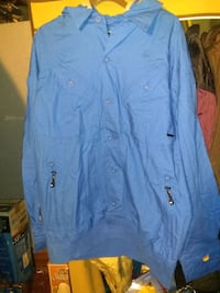 2XL blue button-up akademiks shirt jacket Chicago, 60636
