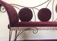 REDUCED!! Make an offer  Bench.Hand crafted one-of-a-kind iron and upholstered bench