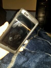 black Android smartphone with black case 611 mi