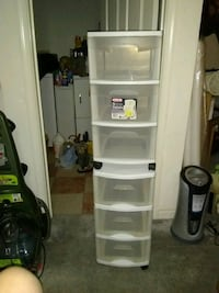 2  3drawer plastic storage cart Alexandria, 22315