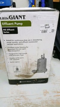 *BRAND NEW* Little Giant 620010 WS30M Submersible Effluent Pump