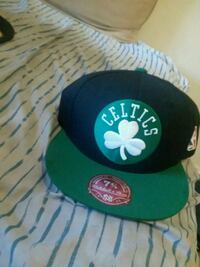 black and green fitted cap Boston, 02124