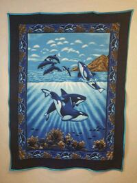 NEW-Hand Made Killer Whales with Dolphins Fleece B Markham, L6C 1R7
