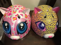 two pink and yellow animal bicycle helmets Chesterfield, 63017
