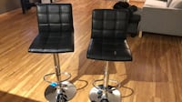 Leather Adjustable Bar Stools with Back (Set of 2) Minneapolis