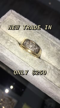 Gold Diamond Used Male Ring
