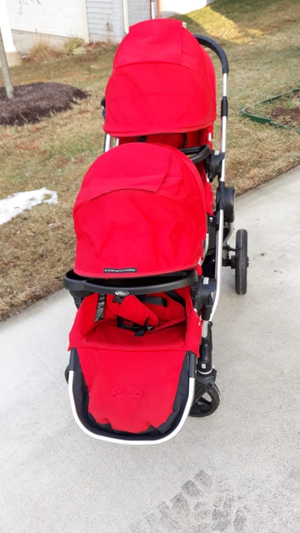 CitySelect double stroller with tray