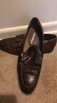 pair of brown leather dress shoes Laurel, 20724