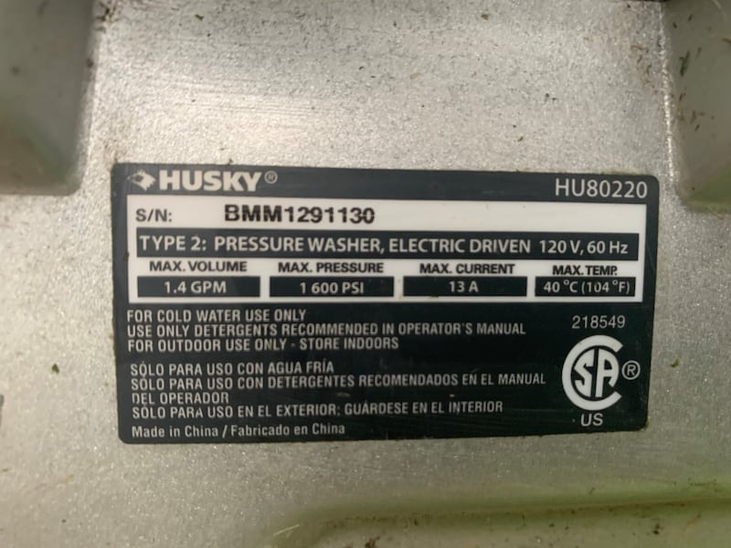 Pressure washer/Power washer 839a3548-a2ac-4969-b18d-13e2bd5d9bdb