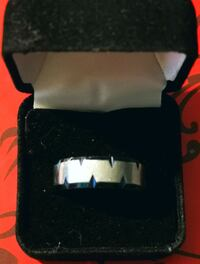 Spike Claws Blue Men's Promise Ring Band 8MM London, N5Y 3A6