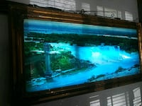 Vintage Hanging light up moving waterfall picture. Oroville, 95966