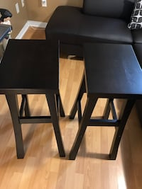 Brand new pair of dark espresso colour bar stool never used  for sale Mississauga, L5M 8C7