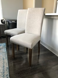 Two Dining Chairs Rustic Style Nailhead Design Atlanta, 30309