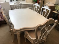 White/pearl dining table and 6 chairs  Purcellville, 20132