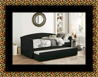 Daybed black with mattress Largo, 20774