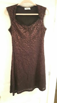 brown square neckline sleeveless mini dress Gatineau, J8R 1A2