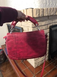 Red leather handbag Pickering, L1V 3J7