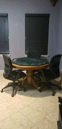 brown wooden table with chairs Harlingen, 78550