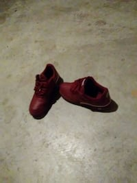 pair of red leather shoes Columbus, 43206
