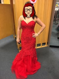 Red prom dress Baltimore, 21202