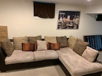 Microfiber sectional couch  Rockville