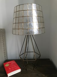 brass-colored metal framed glass table lamp Miami, 33131