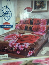 red and black floral bed sheet set Alexandria, 22305