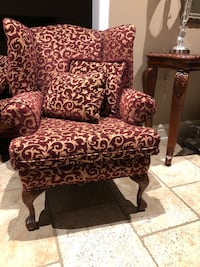 Wing Chair and 2 seater bench