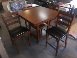 New 5-Piece Counter Height Dining Set