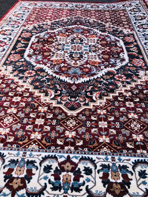 NEW Silk rug Large size 8x10 Nice red carpet Persian Kashaan design ee47f6c8-2e9d-4844-b22d-05d8123ddc12