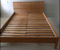Double bed frame with free side table