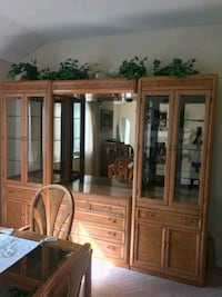 Large Mirrored Wall Unit Danbury