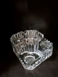 Partylite crystal castle 5 tealight holder