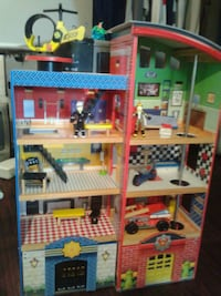 Police and fire wooden play set Bowmanville