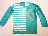green and white striped long-sleeved shirt Mumbai