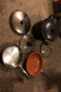 Assorted pot and pans