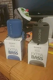 "Sony SRS-XB10 ""Extra Bass"" bluetooth speakers"