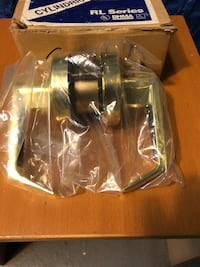 Silver door lever with box