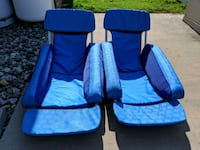 (2) Solstice Floating Pool Lounge Chairs
