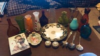Assorted-color glass blown, silver plated, misc items  Peoria, 61607