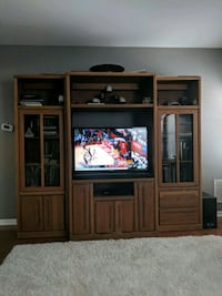 brown wooden TV hutch  South Elgin