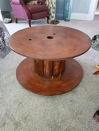 electric spool side table