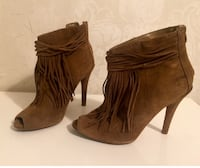 Real leather suede ankle boots size 37