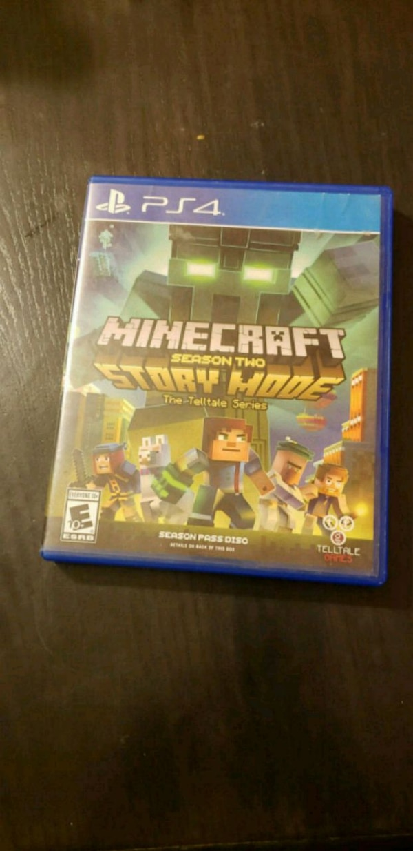 Used Minecraft Story Mode PS4 game case for sale in North